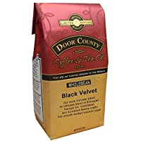 Door County Coffee, Black Velvet, Dark Roast, Whole Bean Coffee, 10 oz Bag