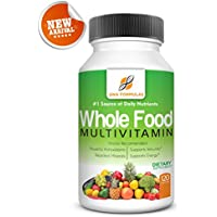 DNA Formulas Whole Food Multivitamin 120 Capsules Enhanced Bioavailable Vitamin For Men & Women No Artificial Colors Preservatives Activated Mineral Rich Biotin Vitamin D Vitamin B12 Folate Vitamin C