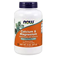 NOW Supplements, Calcium & Magnesium Citrate Powder with Vitamin D3, Supports Bone Health*,  8-Ounce