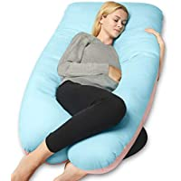QUEEN ROSE Pregnancy Pillow(Double Sided)-U Shaped Maternity Body Pillow with Cover