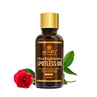 Natural Ultra Brightening Spotless Oil, Rose Essential Skin Whitening Serum - Organic Recover Skin's Natural Tone and Texture, Against Scar, Spots and Aging Signs-Restore&Boost Collagen (30 ml)