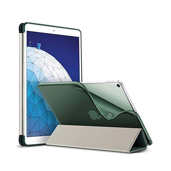 2019 3rd Gen Rose Gold ESR Rebound Slim Smart Case Specially Designed for iPad Air 3 10.5 2019 Flexible TPU Back Cover with Rubberized Coating,Auto Sleep//Wake and Viewing//Typing Stand for iPad Air