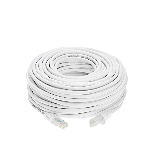 25ft, White 25ft 3 Pack White Cat5e Networking RJ45 Ethernet Patch Cable Xbox \ PC \ Modem \ PS4 \ Router
