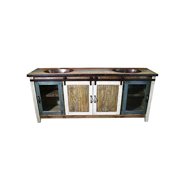 Unbranded Traditional 48 In Wide Single Barn Door Vanity In Antique Finish Bv2148f The Home Depot