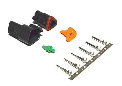 Deutsch 8-pin 14-16AWG Flange Connector Kit Crimp Style Contacts