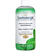 Lumineux Oral Essentials Mouthwash - Clean & Fresh Breath - Certified Non Toxic | Fresh Breath in 14 Days w/o Sensitivity | Fluoride Free | NO Alcohol, Artificial Colors, SLS Free, Dentist Formulated