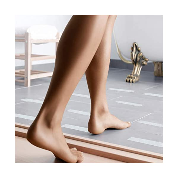 FUS Bathtub Stickers Non-Slip Shower Treads 12 Anti Slip Traction Grip Strips to Prevent Slippery Surfaces. 12, 1 Pack