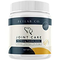 Petlab Co. Joint Care Chews for Dogs | PackedEssential Vitamins to Promote Dog Hip and Joint Health |MSM, Glucosamine, Fish Oil Omega-3 Fatty Acids, Calcium Fluoroborate, Turmeric