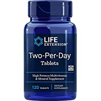 Life Extension Two Per Day (High Potency Multi-Vitamin & Mineral Supplement), 120 Tablets