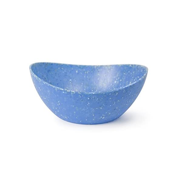 EcoSmart PolyPaper 3qt Serving Bowl, Blue, Recycled Plastic and Paper, Made in the USA by Architec