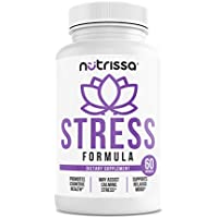 Stress Formula Dietary Supplement - Vitamins B, Calcium, Magnesium, Biotin, Zinc, Potassium & Proprietary Herbal Blend, Natural Anxiety Relief, Supports Calm & Relaxed Mood, 60 Capsules
