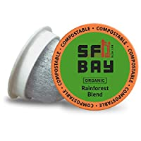 SF Bay Coffee Organic Rainforest Blend 80 Ct Medium Roast Compostable Coffee Pods, K Cup Compatible including Keurig 2.0 (Packaging May Vary)