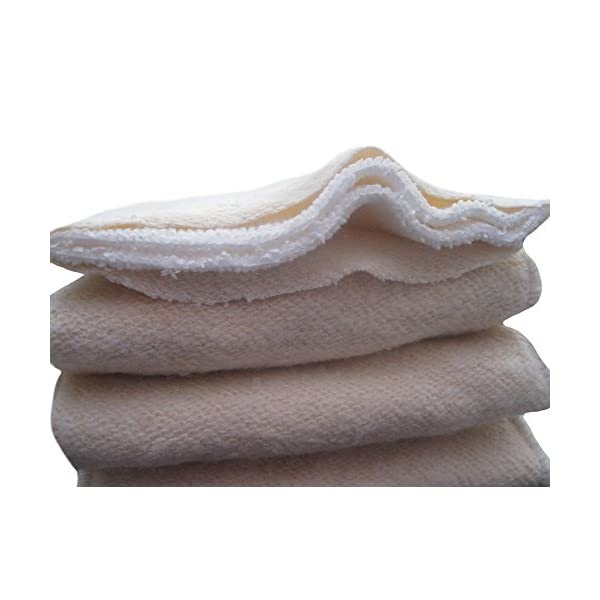 See Diapers 6 Pack Hemp Organic Cotton Cloth Diaper Inserts 4 Layers Large