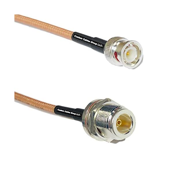 6 feet RG400 Silver Plated BNC Male to BNC Male RF Coaxial Cable