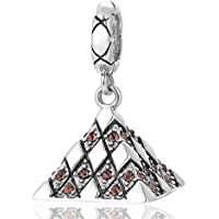 EVESCITY Limited Edition Taj Mahal India Travel 925 Sterling Silver Bead for Charms Bracelets /♥ Best Jewelry Gifts for Her /♥