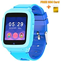 UOTO Smart Watch Phone for Kids with Free SIM Card, Wrist Games Watch for Children with 7 Games 2-Way Calls SOS Music Player, Learning Toy Watch for Boys Girls Christmas Birthday Gifts (Blue)