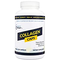 Collagen Peptide Capsules, 180 Count Bottle - Clean Collagen® - Beef Collagen, Pasture Raised, Grass Fed, Paleo, Non GMO, Kosher - Highly Soluble Protein
