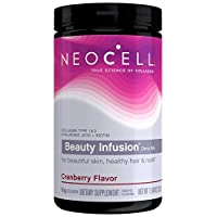 NeoCell Beauty Infusion Powder, Collagen Type 1 & 3, Cranberry, 11.64 Ounces (Package May Vary)