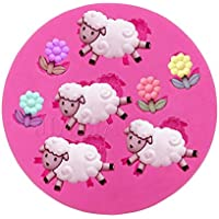 Guluote lovely Curly Sheep Craft Mold Art Silicone DIY Handmade Soap Molds by Guluote