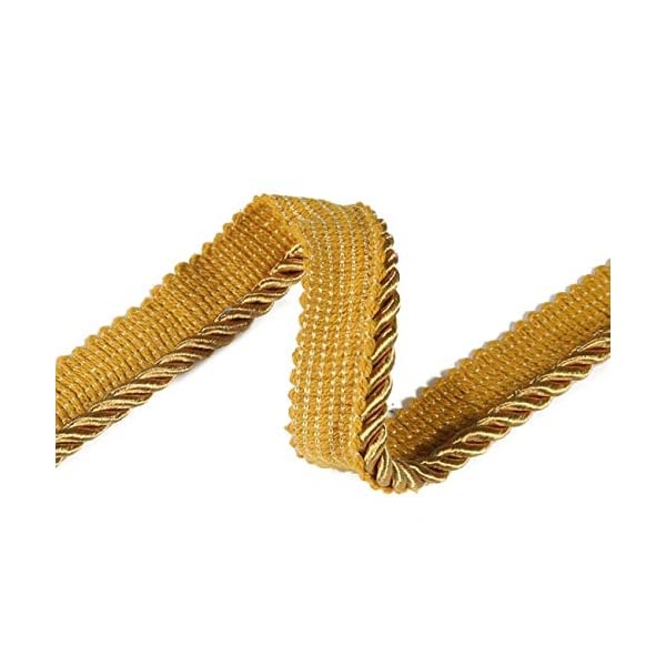 36 Colors Neotrims High Strength Durable /& Versatile 6mm Silky Barley Twist Cord /& 16mm Flanged Insertion Piping Upholstery Crafts Trimming