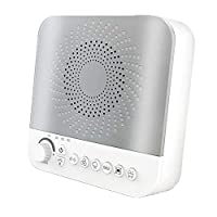 White Noise Sound Machine for Sleeping, Portable Sound Machine with 17 Sooth Sounds, LED Night Light, Sound Therapy Machine for Baby,Adult Timer & Volume Control for Home Office Travel
