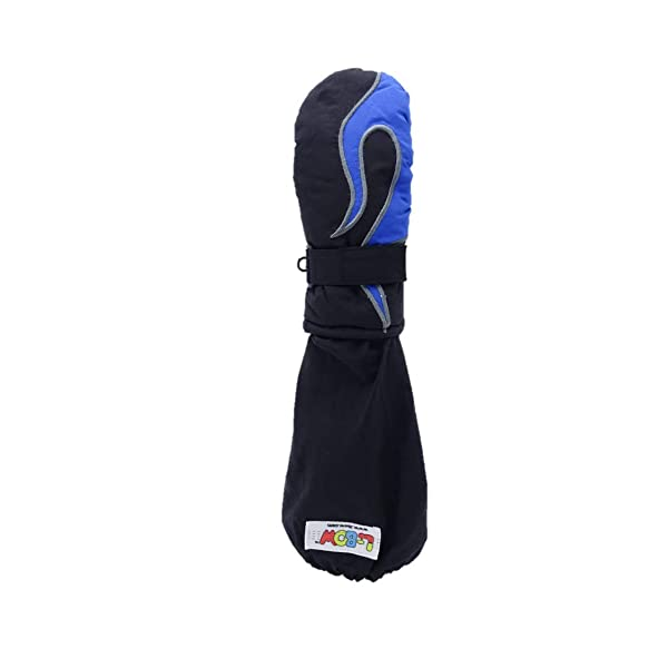 L-Bow Kids Pocket Cold Weather Waterproof Elbow Length Mittens