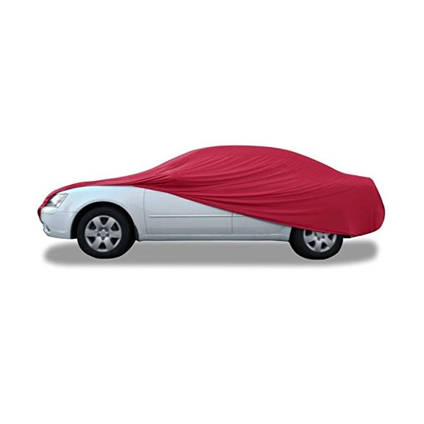 Dustproof Budge Indoor Stretch Car Cover Soft Inner Lining Car Cover fits Cars up to 200 Breathable Black Luxury Indoor Protection
