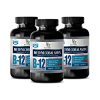Digestive Support Supplements - B-12 1000 MCG Natural Cherry Flavor - SUBLINGUAL - Vitamin b12 with methylcobalamin sublingual - 3 Bottles 360 Fast Dissolve Tablets