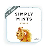 Breath Mints by Simply Gum | Ginger | Pack of Six (270 Pieces Total) | Vegan + non GMO