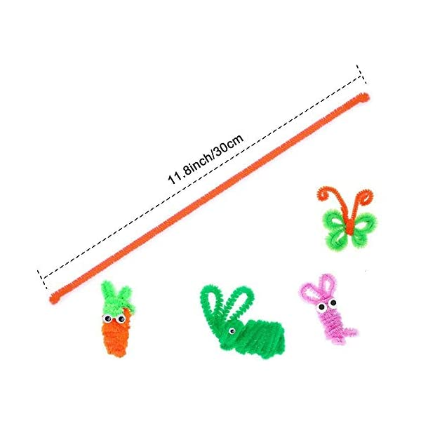 Toys & Games Pipe Cleaners ghdonat.com White 100pcs Pipe Cleaners ...
