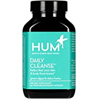 HUM Daily Cleanse Skin supplement - Skin and Body Detox for Clear Skin with Organic Algae, 15 Herbs + Minerals - Supports Digestive Health, Liver Detox and Lung Detox - Gluten Free (60 Vegan Capsules)