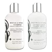 Biotin Vitamin Shampoo & Conditioner Set For Hair Growth (High Potency) With Aloe Vera & Cucumber-B THE PRODUCT (8.5oz)