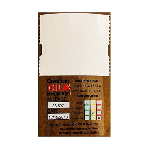 200 Pack Parts Flix OCS2-200 Oil Change Sticker