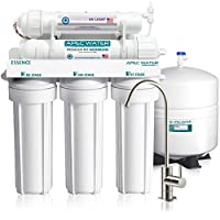 APEC Water Systems Essence ROES-UV75 Top Tier Violet Sterilizer 75 GPD 6 Stage Ultra Safe Reverse Osmosis Drinking Water Filter System, Plastic UV Housing