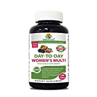 Brieofood, Day-to-Day Food Based Women's Multi (180 Tablets) with Vegetable Source Omegas