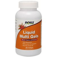 NOW Supplements, Liquid Multi Gels with Lutein and Lycopene, plus Flax Seed Oil, 180 Softgels