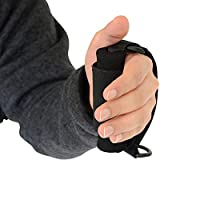 Sammons Preston Universal Holder Strap for Elderly, Hand Cuff with Pocket for Holding Cutlery, Pens, Toothbrushes, Daily Living Tools, Adjustable Velcro Implement Holder