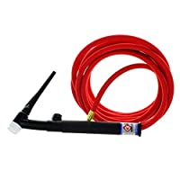 TIG Torch WP17FV 150Amp Air Cooled 12.5Feet 4M Welding Hose Cable Adapter 105Z57 Cloth Hood Best Welding Partner