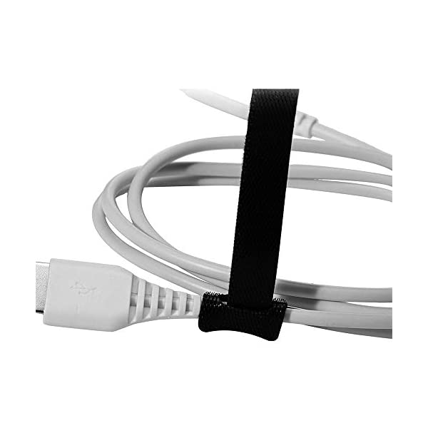 Black VITTO 30PCS Velcro Cable Ties 1//2 x 8 Fastening Cord Strap Reusable Wire Wrap Hook /& Loop Ties for Computer PC Cable Management and Organizing Cords