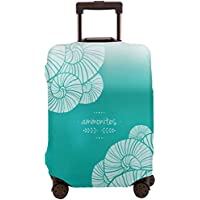 Green Ammonites Anti Scratch Luggage Cover S Protect From Scratches Spills Stains Dust Dirty