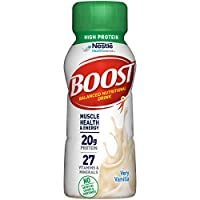 BOOST High Protein Complete Nutritional Drink, Very Vanilla, 8 Fl Oz (Pack of 24)