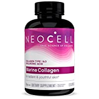 NeoCell Marine Collagen, 120ct Collagen Pills with Hyaluronic Acid, Vitamin C, Magnesium, B6, B12, Zinc, and Protein, Non-GMO, Paleo Friendly, Gluten Free, Hydrates Skin (Packaging May Vary)