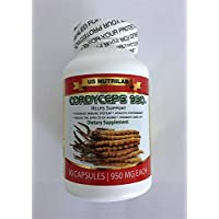 Cordyceps 950 USDA Organic - 90 Vegetarian Capsules (950 mg Each) (Buy ONE GET ONE Free)