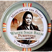 3 Tins Navajo Medicine Of The People White Sage Dry Lips Lip Balm - Minor Skin Ailments, 0.75 oz each - Christmas Stocking Stuffer