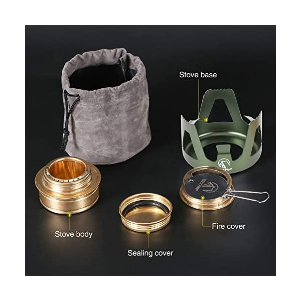 Outdoor Collapsible Wood Burning Stainless Steel Rocket Stove Backpacking Camp Tent Stove Walmeck
