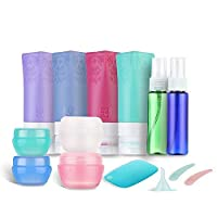 Travel Size Bottles,Travel Bottles TSA Approved with Spray Bottles,Toiletry Travel Containers, Leakproof Silicone Travel Bottles Set(14 Pcs)