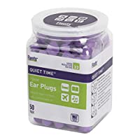 Flents Ear Plugs, 50 Pair, Ear Plugs for Sleeping, Snoring, Loud Noise, Traveling, Concerts, Construction, & Studying, NRR 33