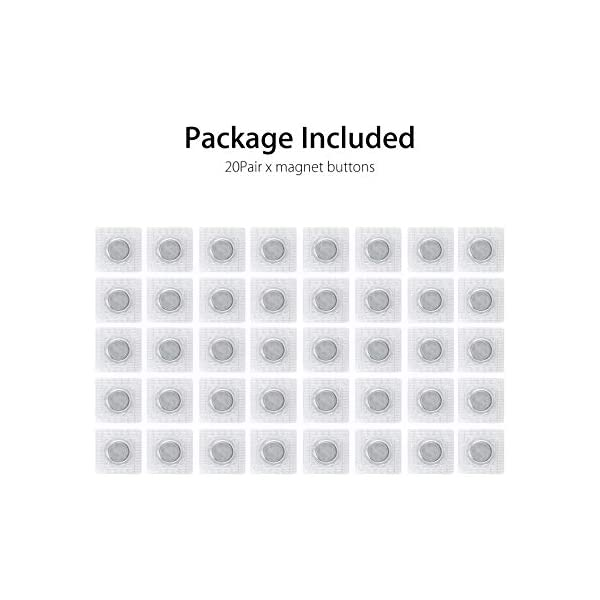 12 Sets Hidden Invisible Sew-in Magnetic Snap 15mm 0.59inch
