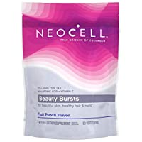 NeoCell Beauty Bursts Collagen Soft Chews - 2,000mg Collagen Types 1 & 3 - Fruit Punch Flavor  60 Count (Package May Vary)