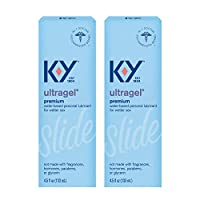 K-Y Ultragel Lube, Personal Lubricant, Water-Based Formula, Safe to Use with Silicone Toys, For Men, Women and Couples, 4.5 FL OZ (Pack of 2)